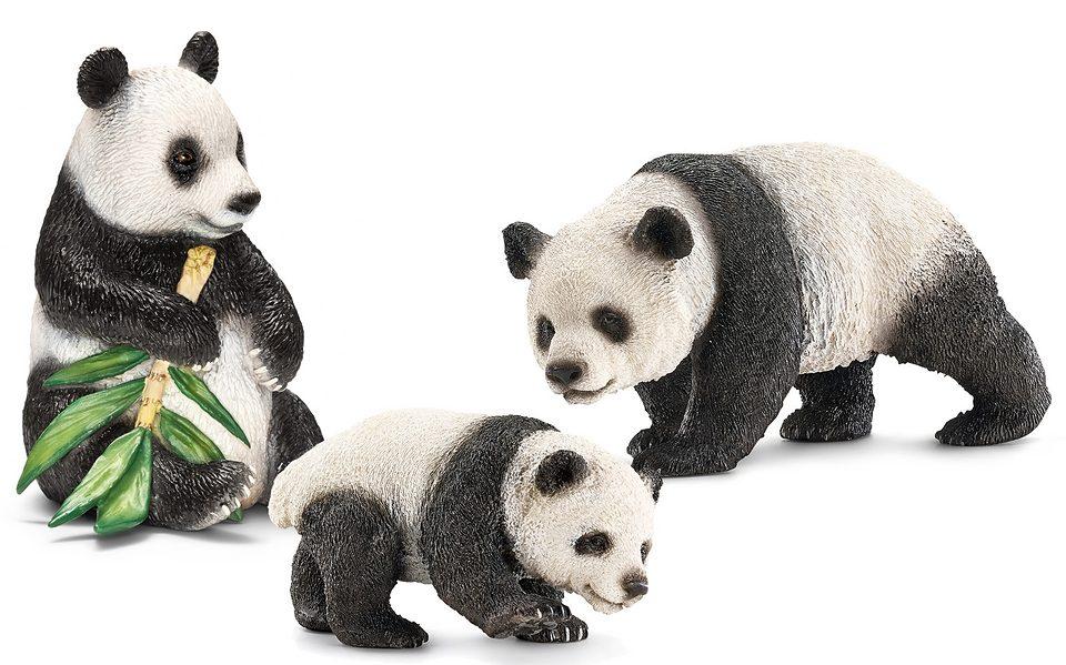 Schleich® Spielfiguren-Set, »World of Nature Wild Life - Großer Panda« (3tlg.)