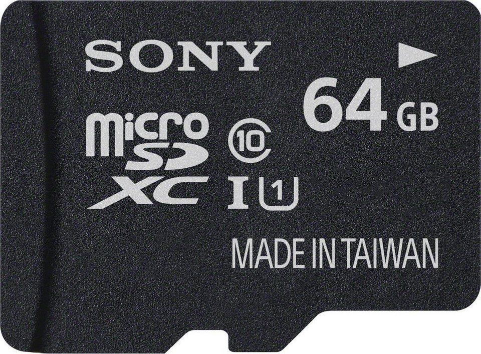 Sony microSDXC Card 64GB, Performance, Class 10, UHS-I in black
