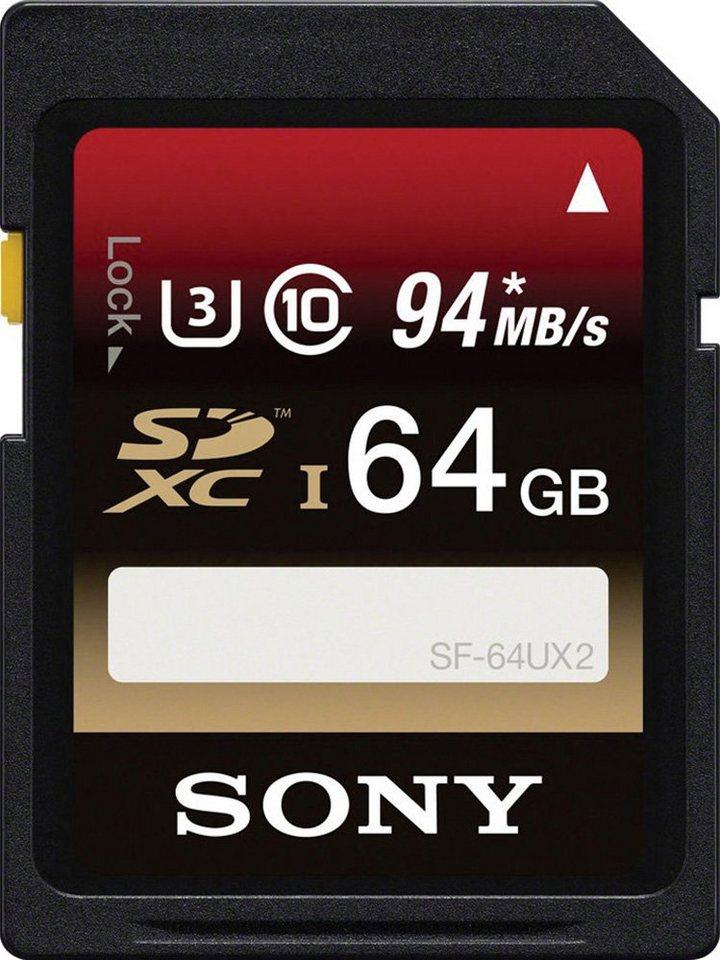 Sony SDXC-Card 64GB, Expert, Class 10, UHS-I in black