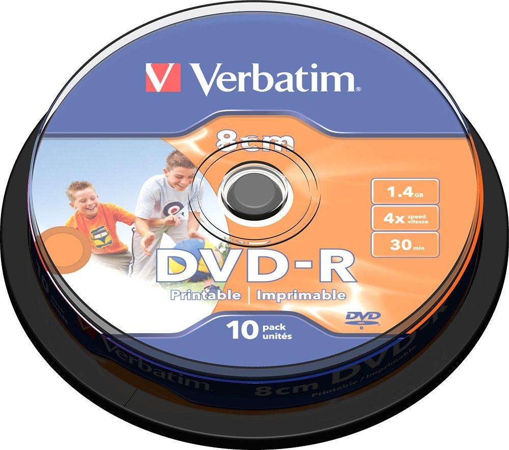 Verbatim DVD-R 8cm 30Min/1.46GB/4x Cakebox (10 Disc)