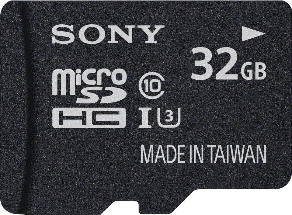 Sony microSDHC Card 32GB, Expert, Class 10, UHS-I in black