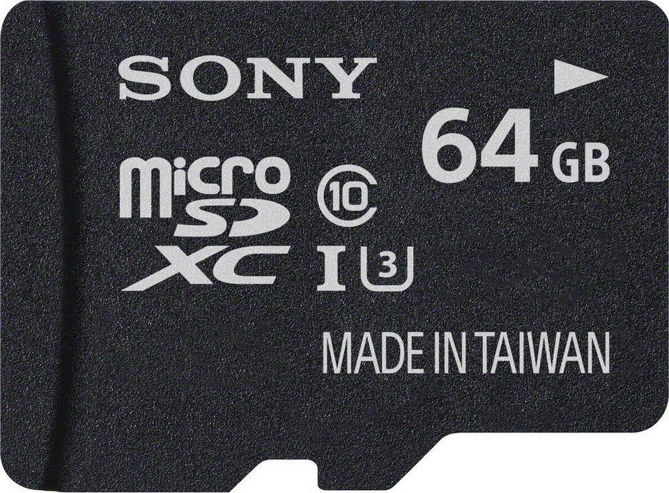 Sony microSDXC Card 64GB, Expert, Class 10, UHS-I in black
