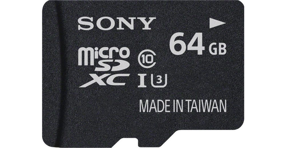 Sony microSDXC Card 64GB, Expert, Class 10, UHS-I