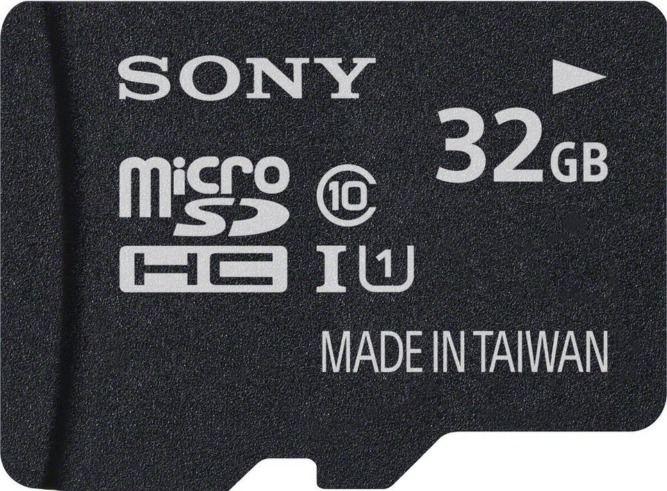 Sony microSDHC Card 32GB, Performance, Class 10, UHS-I in black