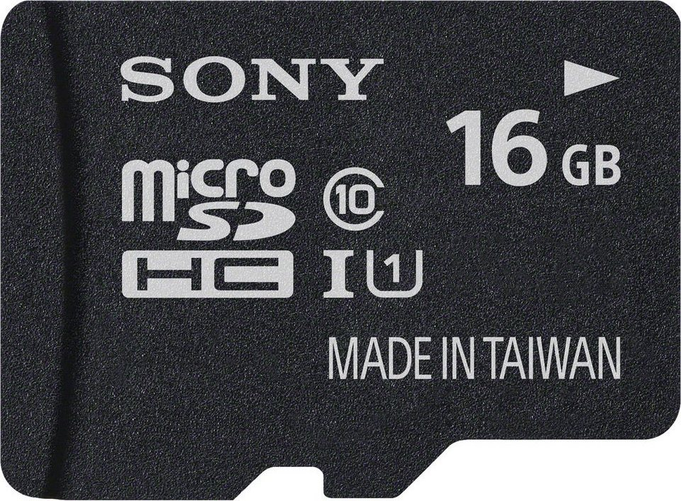 Sony microSDHC Card 16GB, Expert, Class 10, UHS-I in black