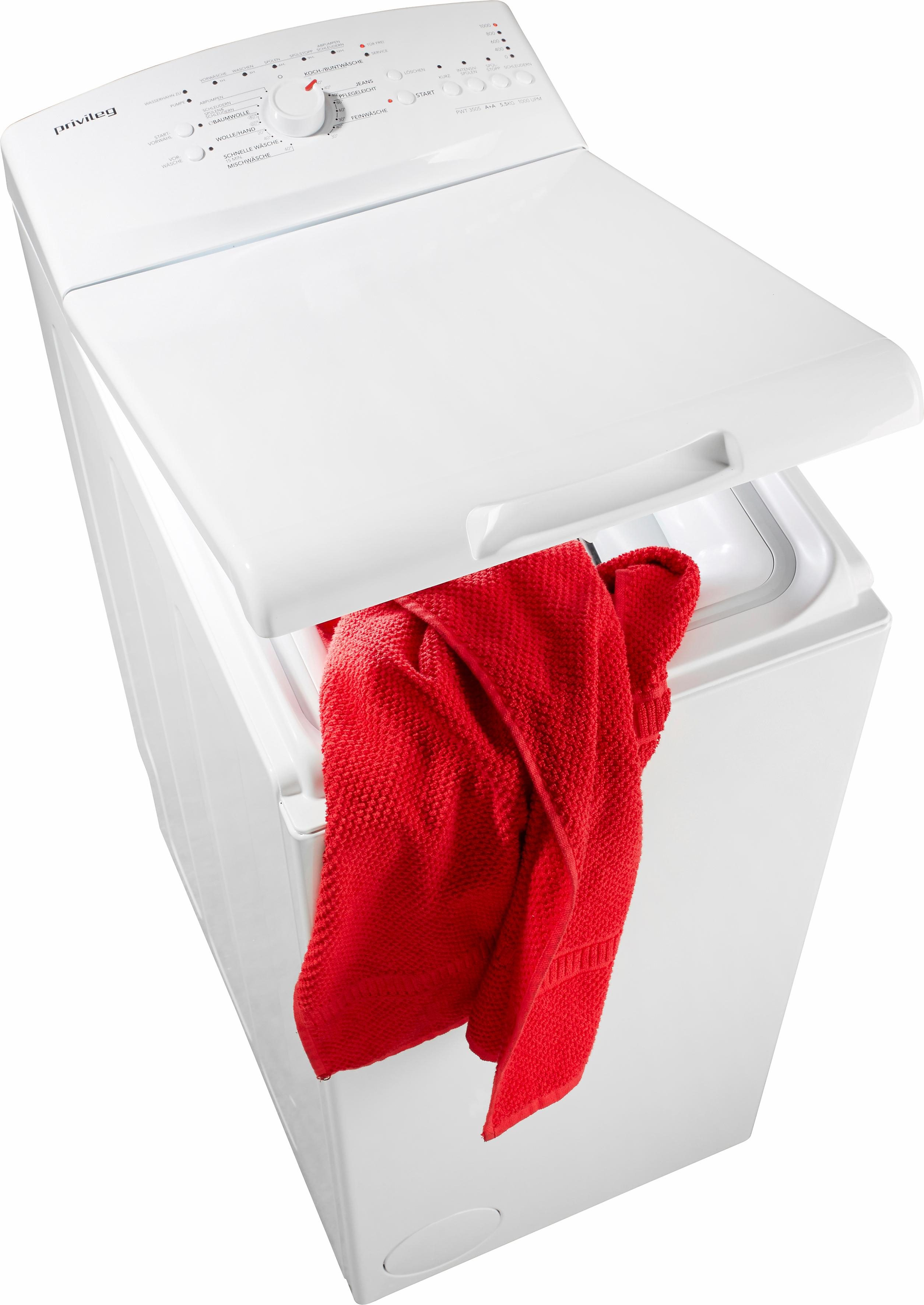 Privileg Waschmaschine Toplader PWT 3505, 5,5 kg, 1000 U/Min