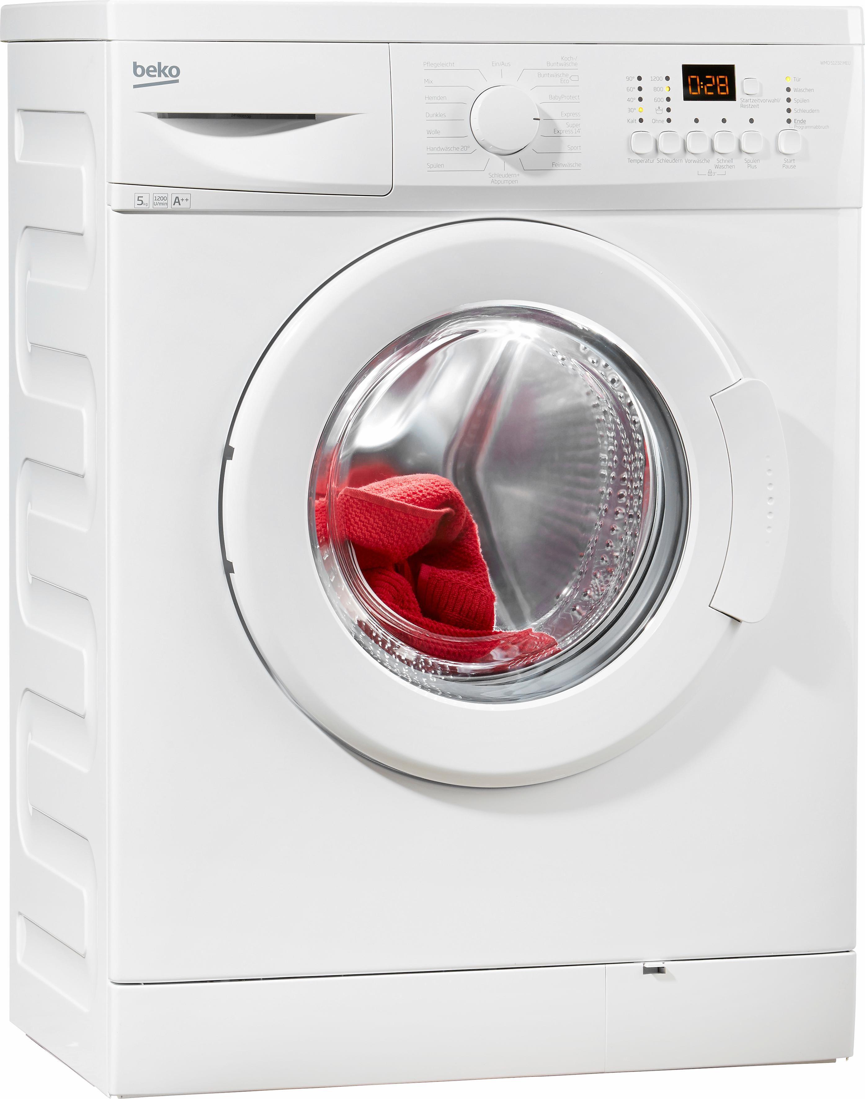 BEKO Waschmaschine WMO 51232, 5 kg, 1200 U/Min
