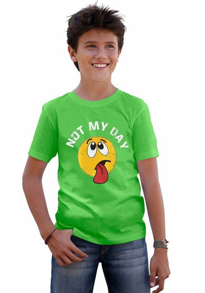 """KIDSWORLD T-Shirt """"Not my day"""" in grün"""