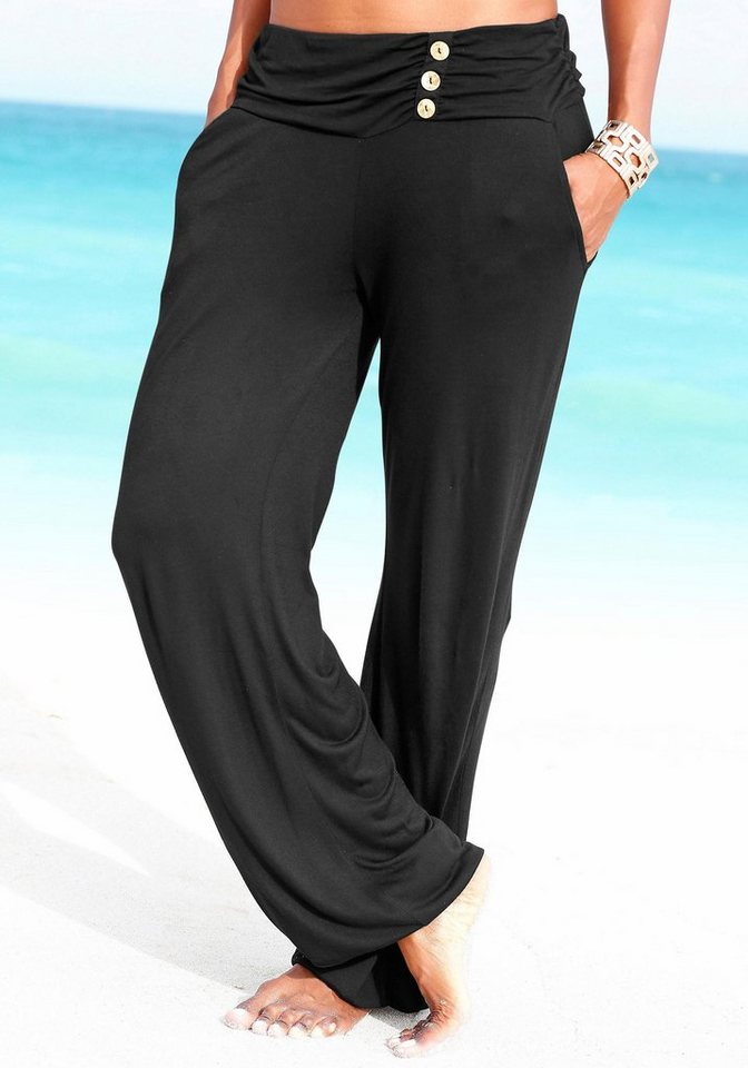 LASCANA Strandhose in schwarz