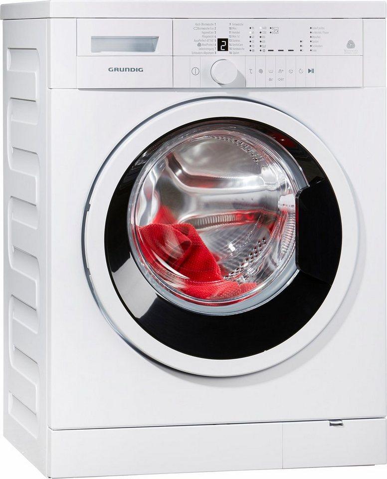 Grundig Waschmaschine GWN 26430, A+++, 6 kg, 1400 U/Min in weiß