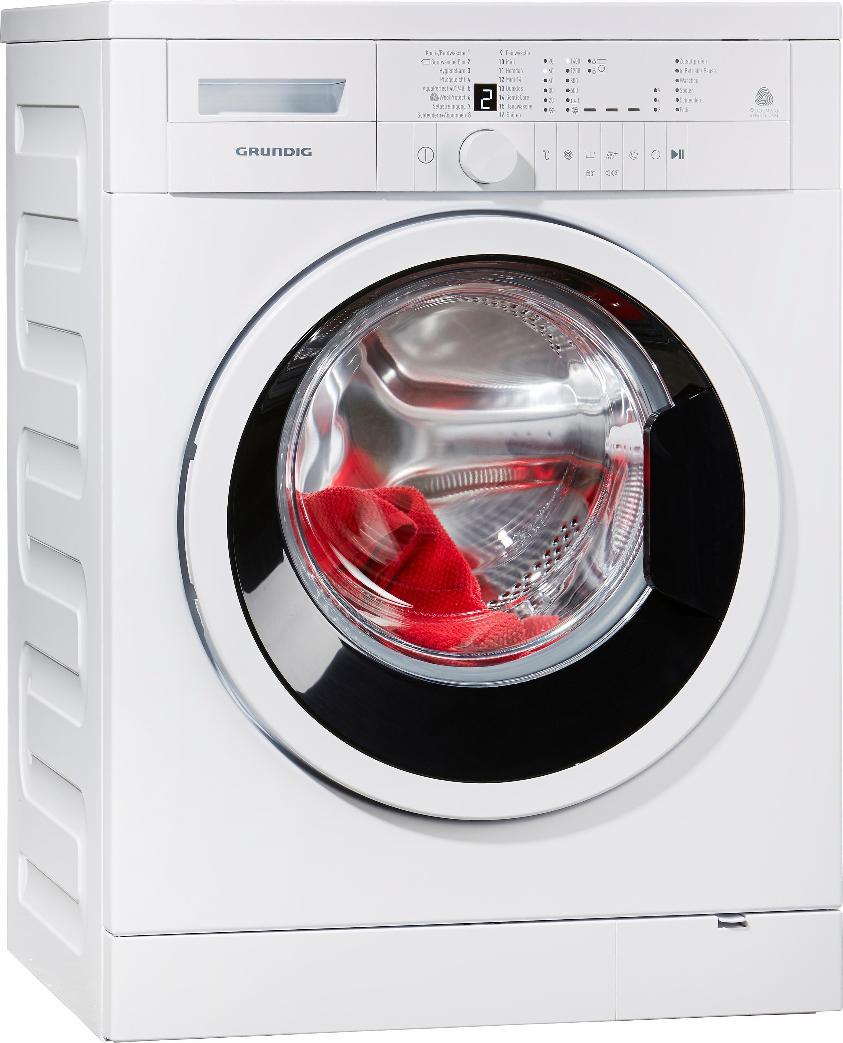 Grundig Waschmaschine GWN 26430, A+++, 6 kg, 1400 U/Min