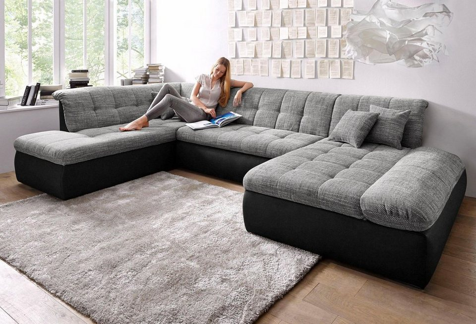 m bel sofas couches wohnlandschaften wohnlandschaft xxl. Black Bedroom Furniture Sets. Home Design Ideas