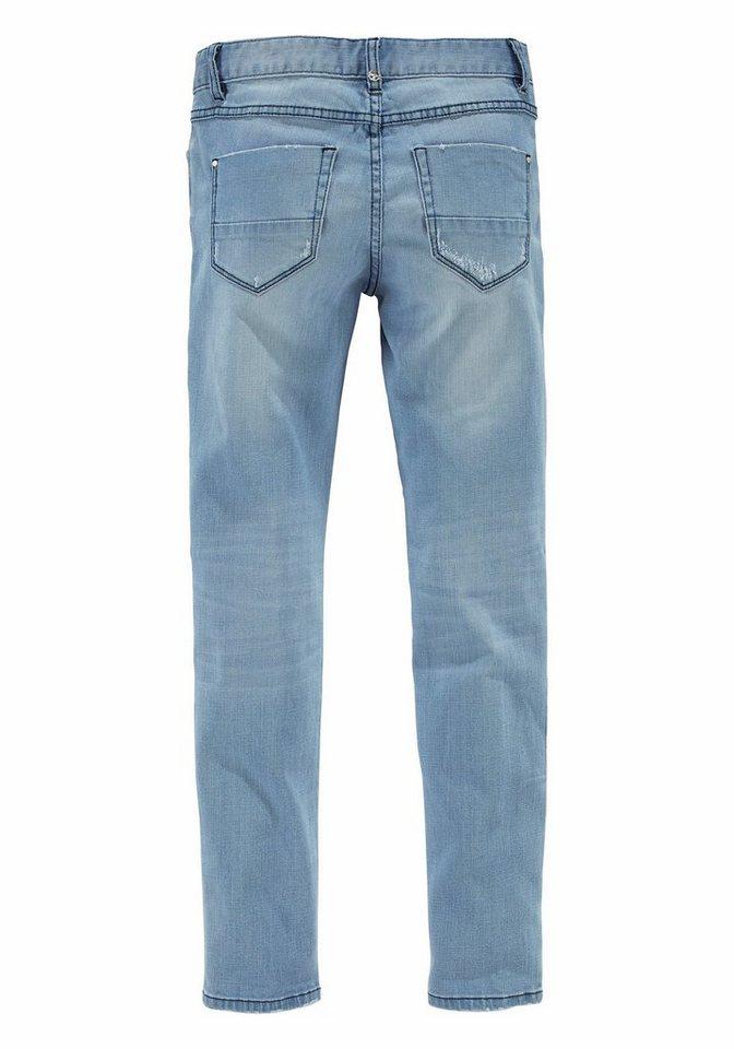 STEFANEL Röhrenjeans im dezenten Vintage-Look in light-blue