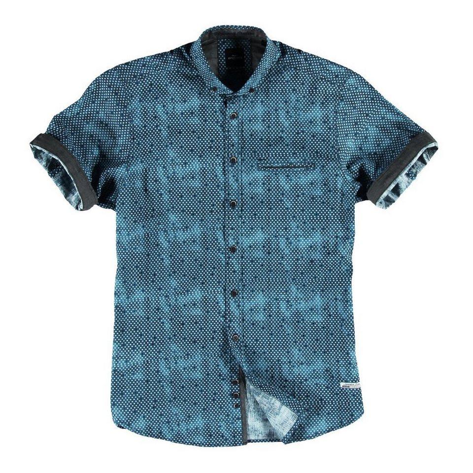 engbers Hemd kurzarm in Marineblau