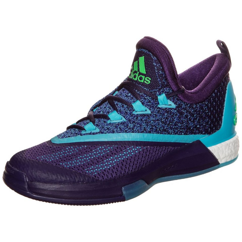 adidas Performance Crazylight Boost 2.5 Low Basketballschuh Herren in lila / blau / grün