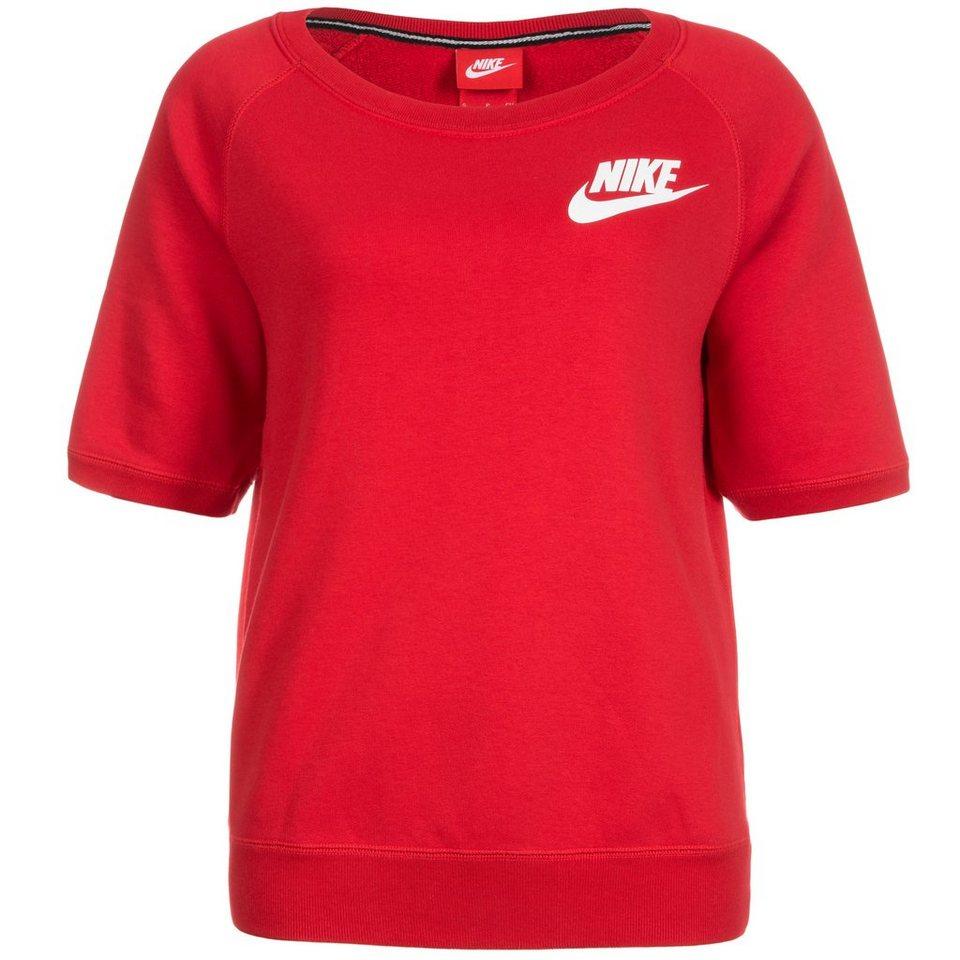 Nike Sportswear Rally Crew Sweatshirt Damen in rot / weiß