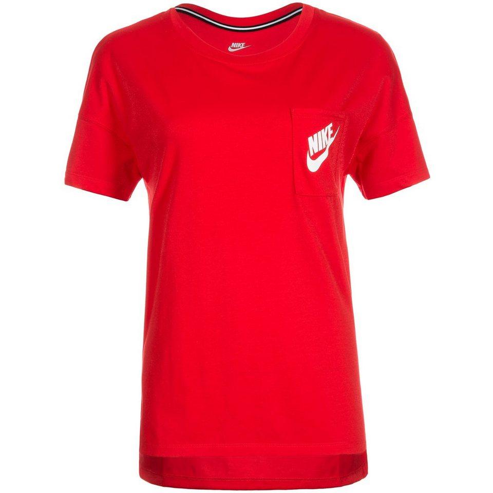 Nike Sportswear Signal T-Shirt Damen in rot / weiß