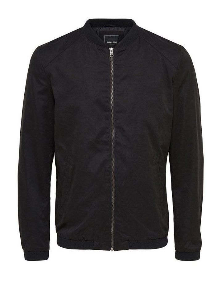ONLY & SONS Kurze Nylon- Jacke in Black