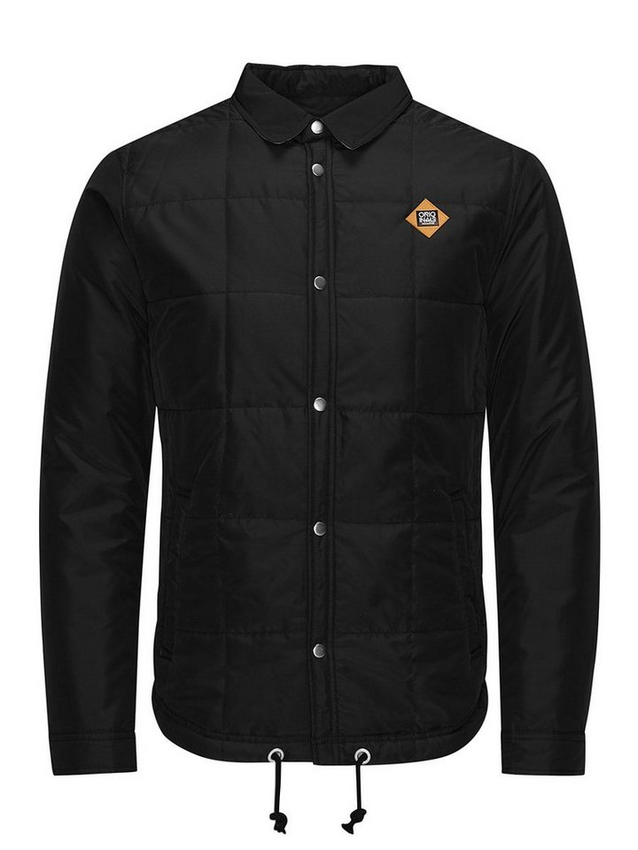 Jack & Jones Gesteppte leichte Camouflage- Jacke in Black