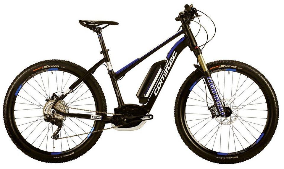 Corratec Da-Mount-E-Bike, 27,5 Z, 11Gg Kettensch., Mittelm., »E-Power X-Vert 650B CX 25 Trapez 400 in schwarz-blau