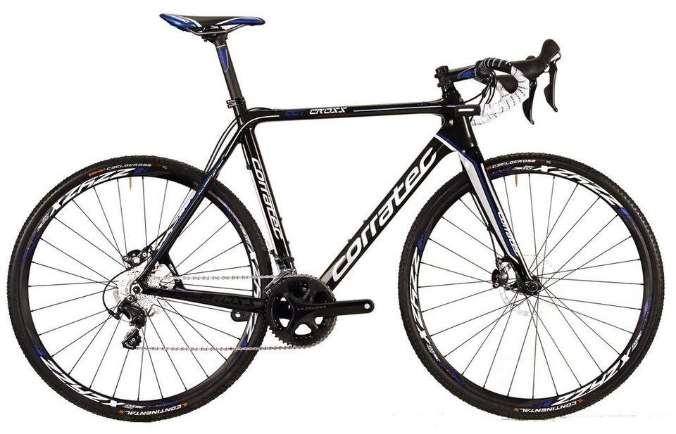 Corratec Crossbike, 28 Zoll, 22 Gang Shimano Kettenschaltung, »CCT Cross Ultegra 105 11S Hydro Disc« in schwarz-weiß