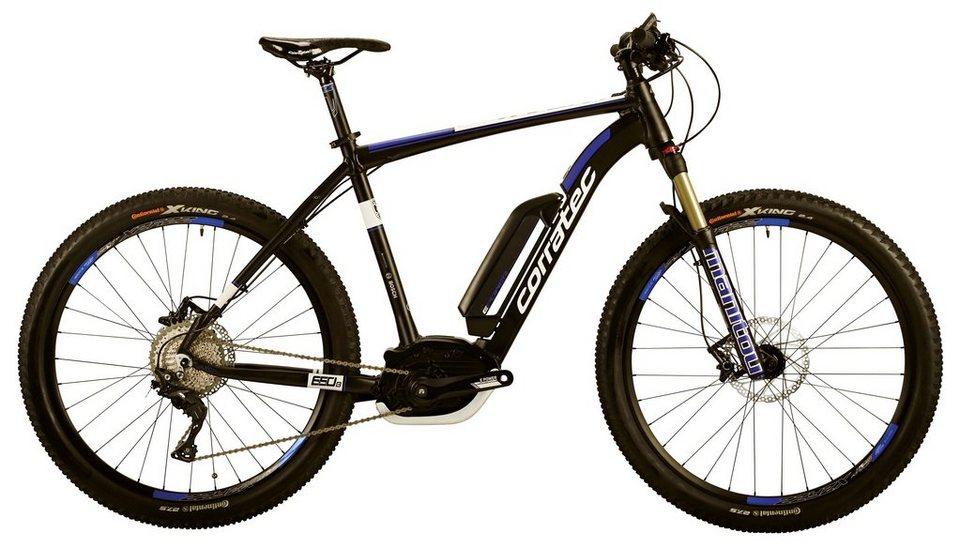 Corratec He-Mount-E-Bike, 27,5 Zoll, 11Gg Kettensch., Mittelmotor, »E-Power X-Vert 650B CX 25 400W« in schwarz-blau