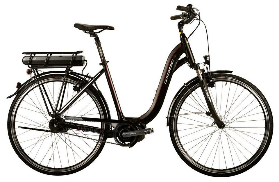 Corratec Damen City E-Bike, 28 Zoll, 8 Gg Nabensch,Mittelmotor, »E-Power 28 Steps Di2 Lady« in grau