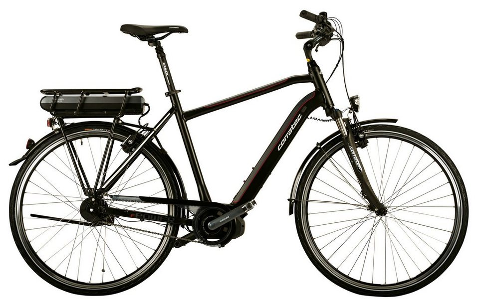 Corratec Herren City E-Bike, 28 Zoll, 8 Gg Nabenschaltung, Mittelmotor, »E-Power 28 Steps Di2 Gent« in grau