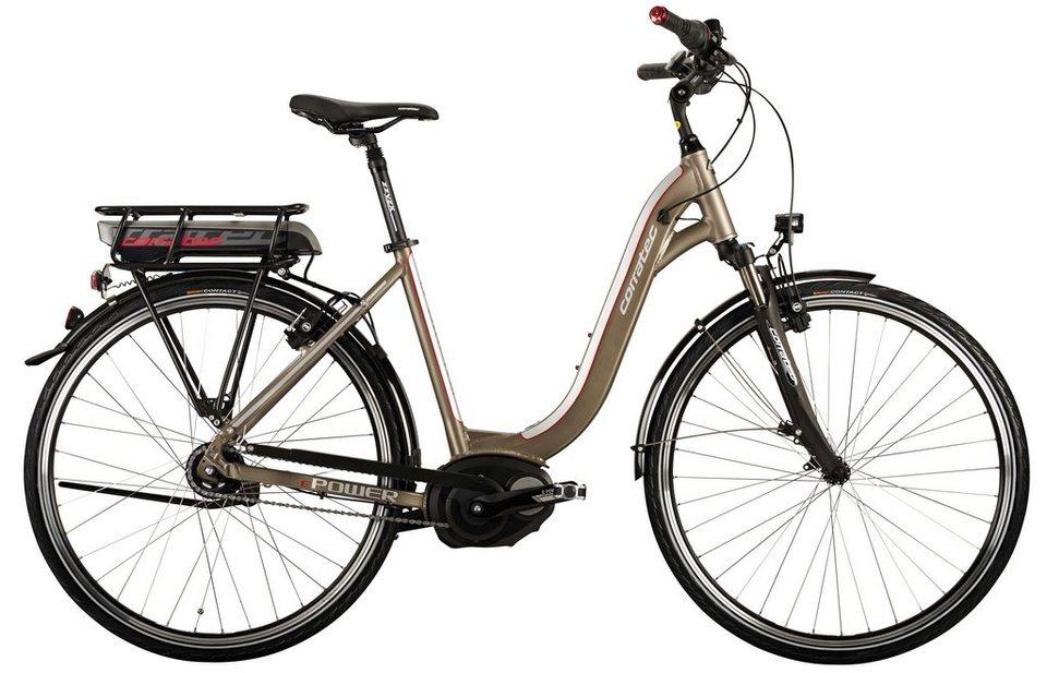 Corratec Damen City E-Bike, 28 Zoll,8 Gg Nabensch,Mittelmotor, »E-Power 28 Coaster Active Lady 400W« in kupferfarben
