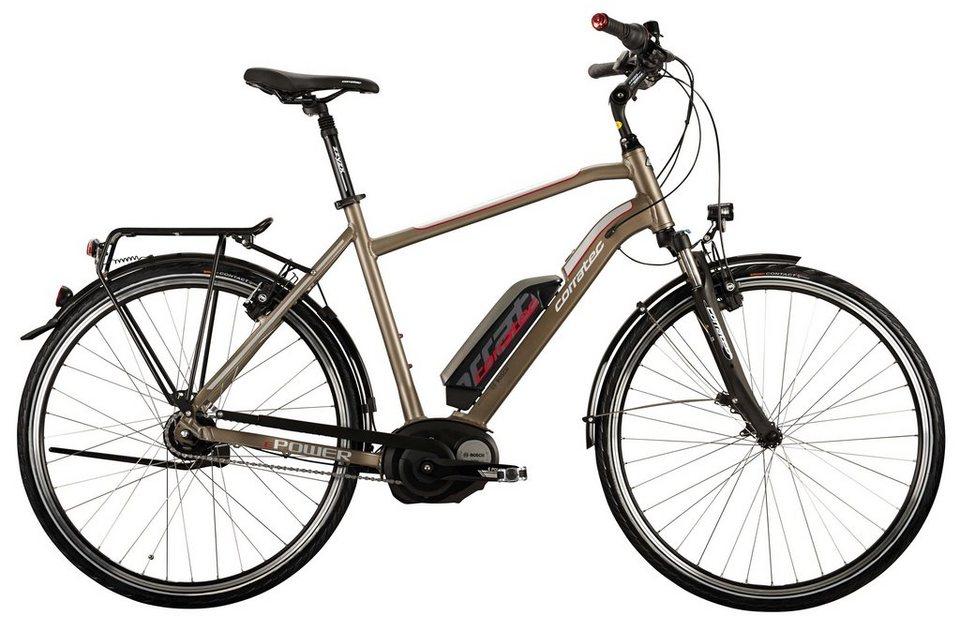 Corratec HerrenCity E-Bike, 28 Zoll,8 Gg Nabensch,Mittelmotor, »E-Power 28 Coaster Active Gent 400W« in kupferfarben