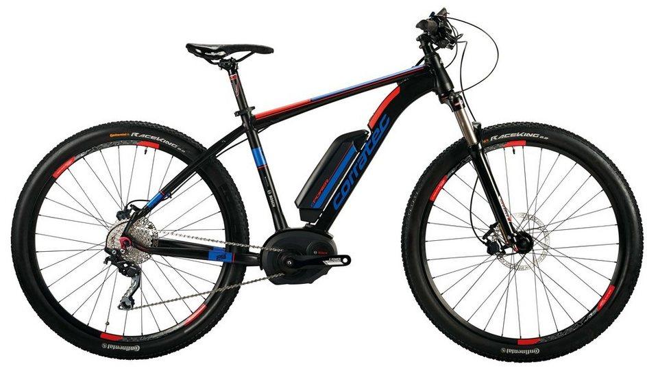 Corratec He-Mount-E-Bike,29 Z, 10 Gg Kettensch, Mittelm, »E-Power X-Vert 29er Performance Gent 400« in schwarz-blau