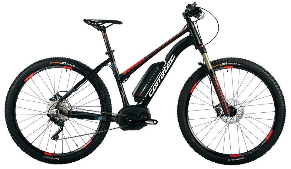 Corratec Da-Mount-E-Bike, 29 Z, 10Gg Kettensch,Mittelm, »E-Power X-Vert 29er Perfor.Trapez 400W XC« in schwarz-rot