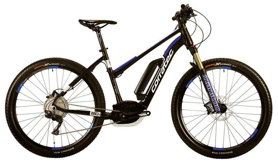 Corratec Da-Mount-E-Bike, 27,5 Z, 11 Gg Kettensch., Mittelm., »E-Power X-Vert 650B CX 25 Trap. 500W« in schwarz-blau