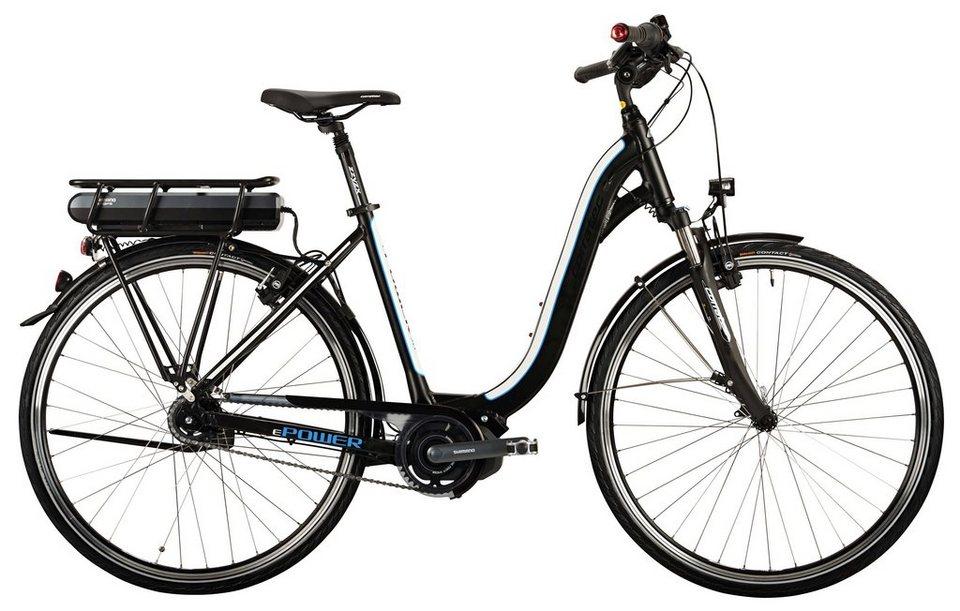 Corratec Damen City E-Bike, 28 Zoll, 8 Gg Nabenschaltung, Mittelmotor, »E-Power 28 Steps Lady« in schwarz