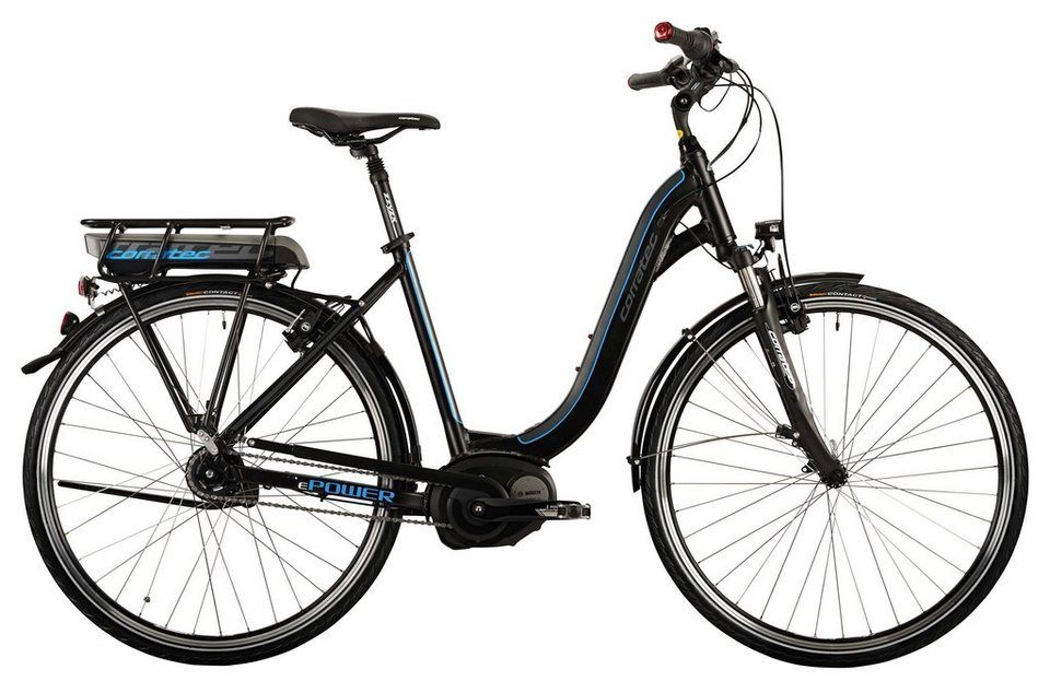Corratec Damen City E-Bike, 28 Zoll, 8 Gg Nabenschaltung, Mittelmotor, »E-Power 28 Active Lady 400W« in schwarz