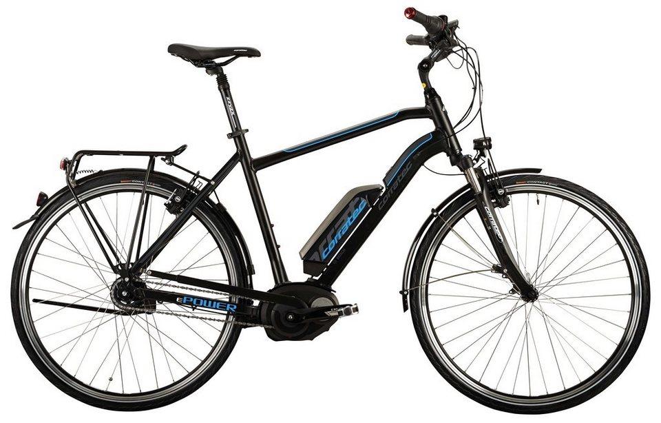 Corratec Herren City E-Bike, 28 Zoll, 8 Gg Nabensch, Mittelmotor, »E-Power 28 Active Gent 400W« in schwarz