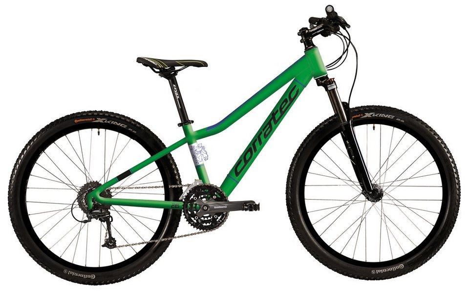 Corratec Hardtail Mountainbike, 26 Zoll, 24 Gang Shimano Kettenschaltung, »X-Vert Rock 26« in grün