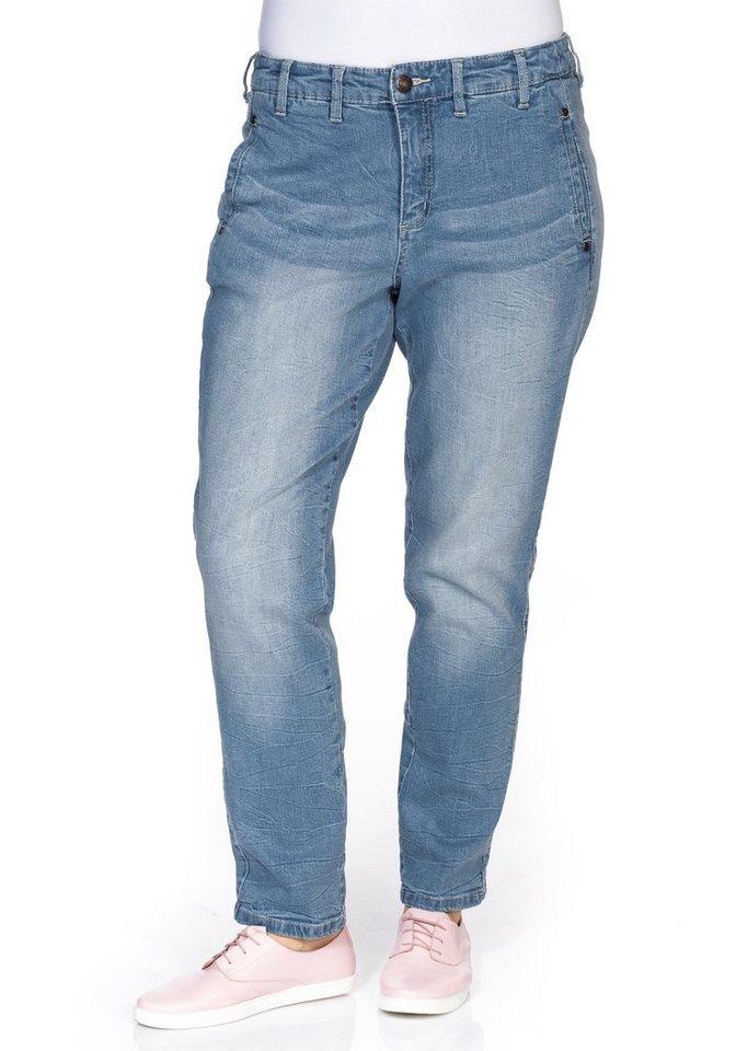 sheego Denim Boyfriend Stretch-Jeans in light blue Denim