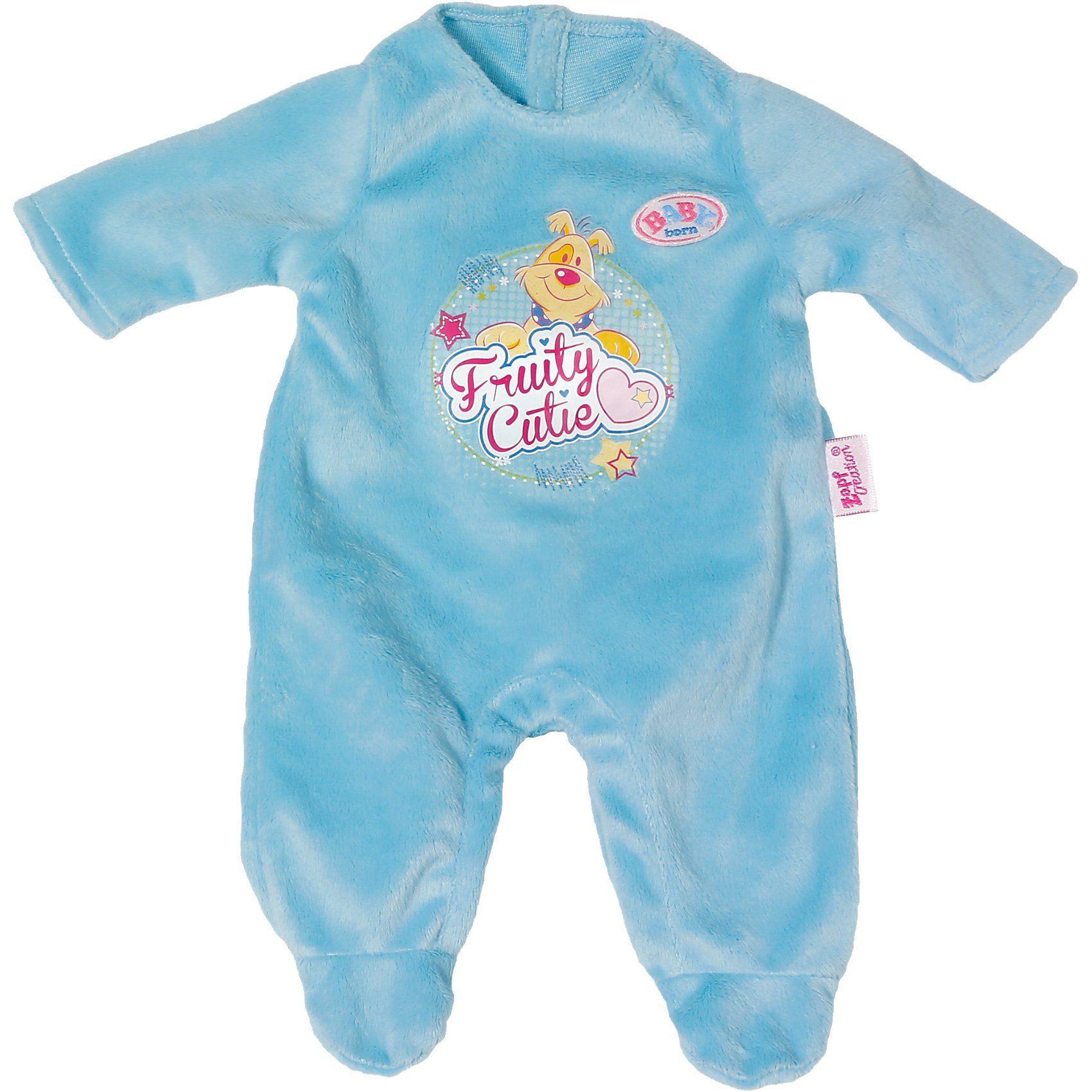 Zapf Creation BABY born® Puppenkleidung Strampler blau, 43 cm