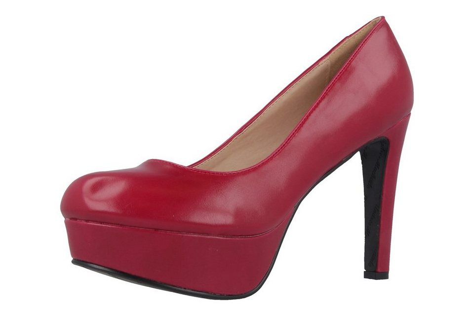 Andres Machado Pumps in Rot