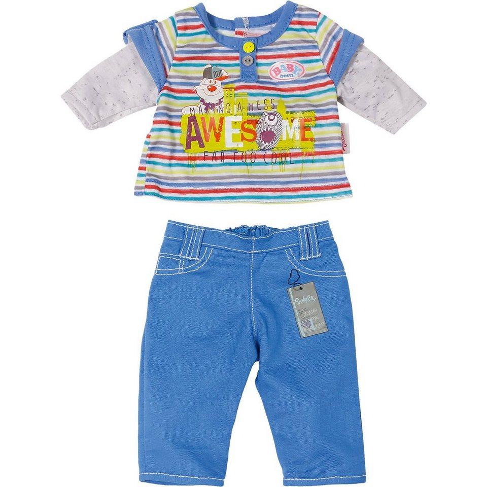 Zapf Creation BABY born® Puppenkleidung Longsleeve, blaue Hose