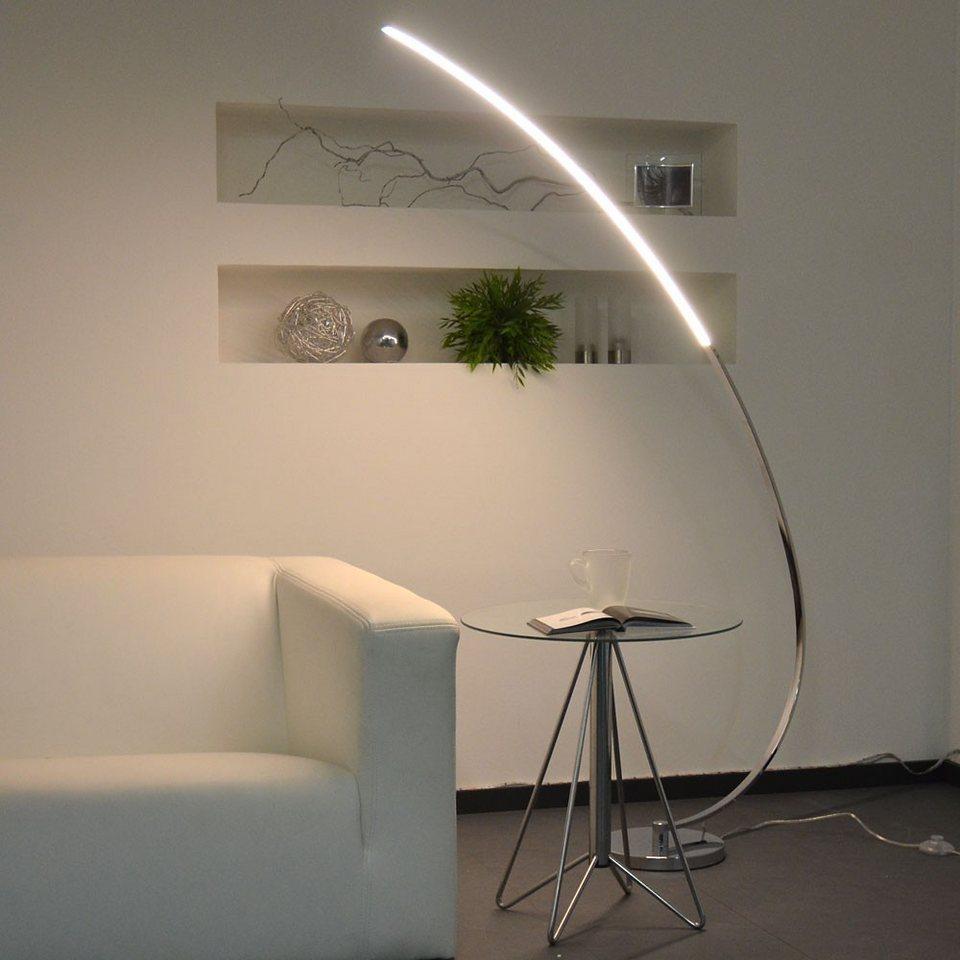 Licht-Trend Stehleuchte »LED Stehleuchte mit gebogenem Arm« in Silber