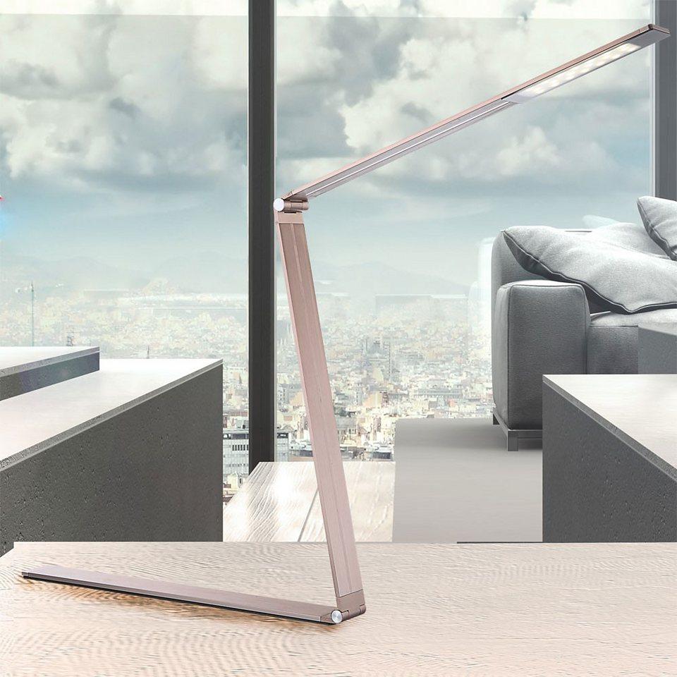 Licht-Trend Tischleuchte »Tommy / LED-Tischlampe klappbar« in Braun