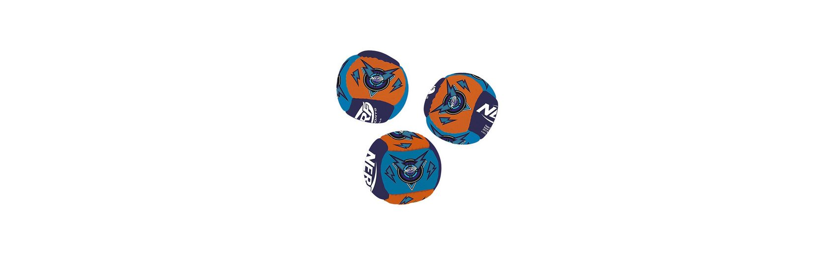 Happy People NERF Neopren Miniball-Set, 3 Stück, Ø 5cm
