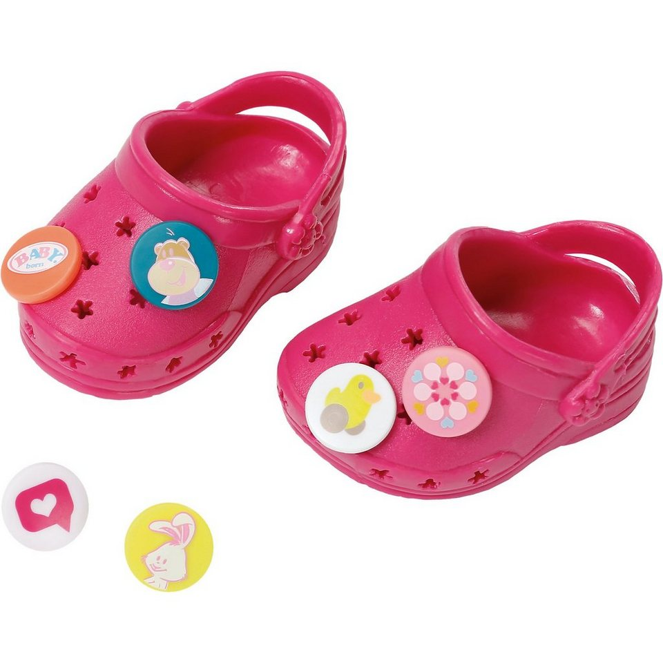 Zapf Creation BABY born® Puppenkleidung Schuhe Clogs mit Pins Bordeaux, 43