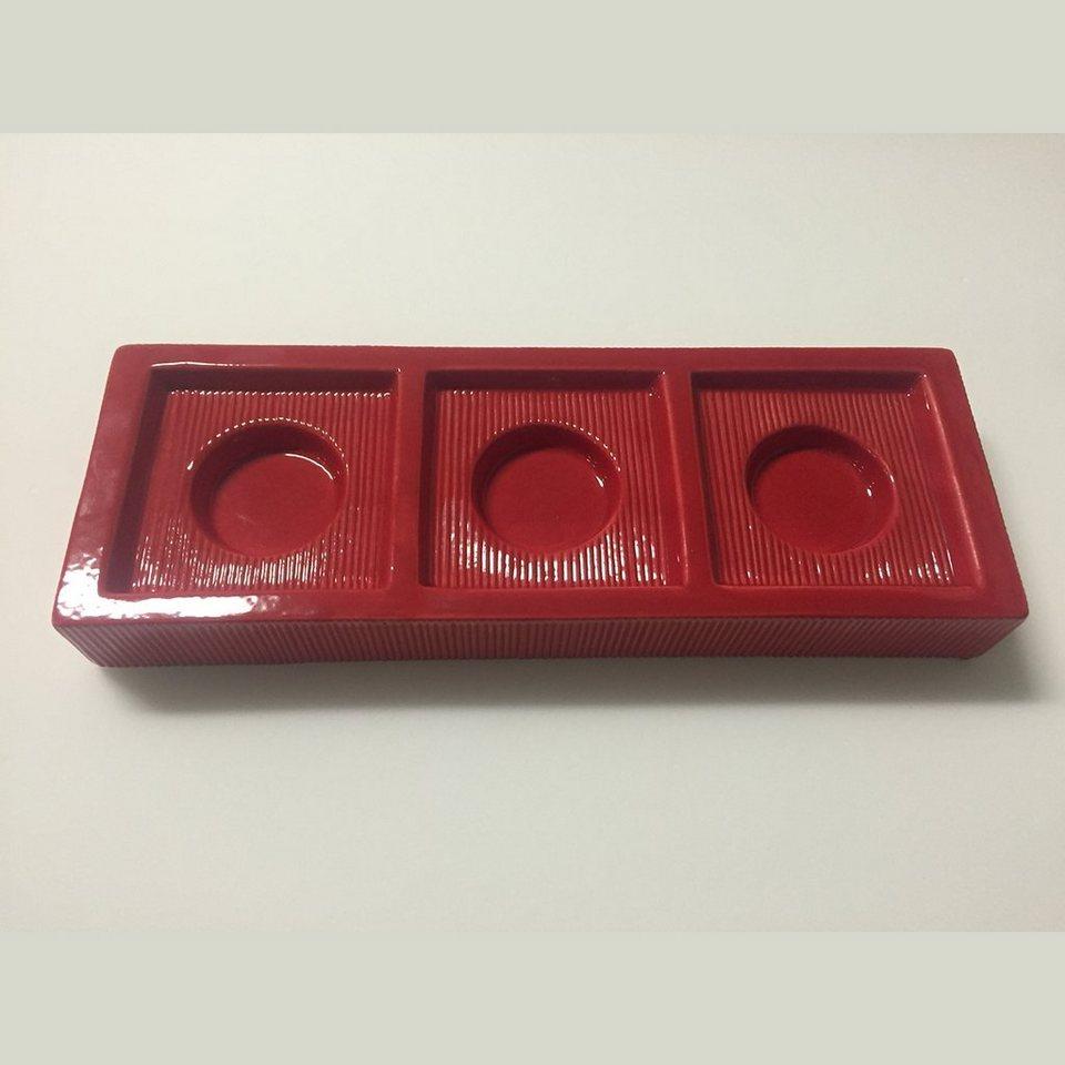 CULTDESIGN Cult Design Teelichthalter CHANGE Basic rot - Solo in rot