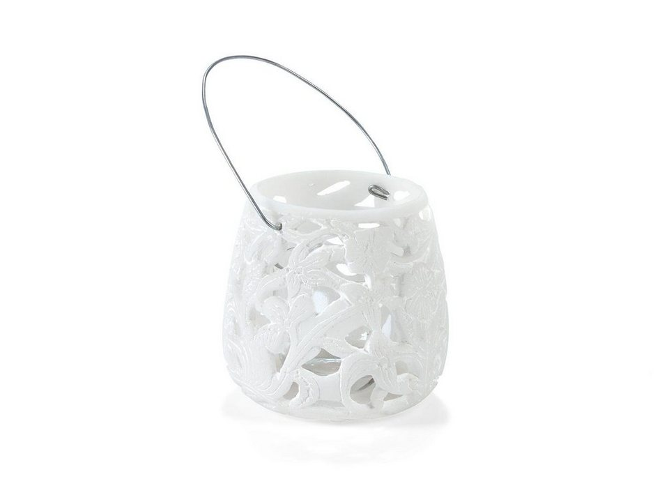 massivum Windlicht aus Polyresin »Yola« in weiß