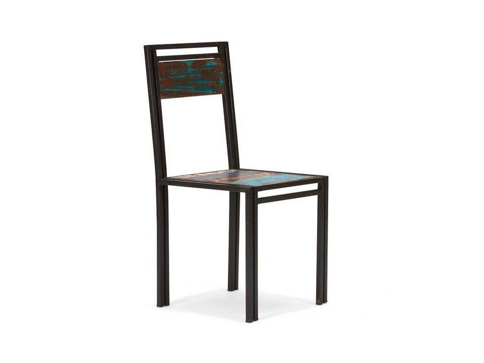 massivum Stuhl aus Hartholz »Quebec« in bunt