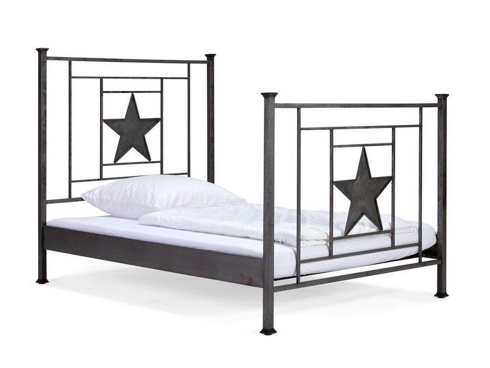 massivum Bett aus Stahl »Matikas« in grau
