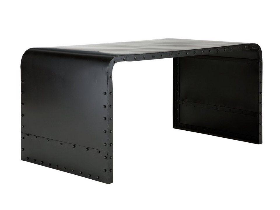 massivum Schreibtisch aus Metall »Dunce« in schwarz
